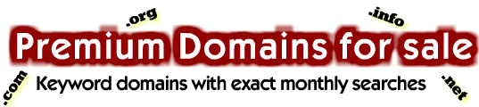 Premium Domain Names are for Sale at Cheap Price